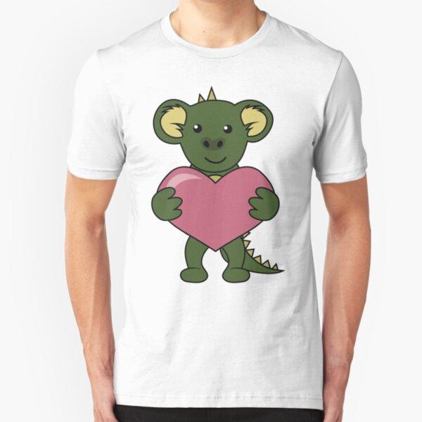 Monstapals Love Heart Slim Fit T-Shirt