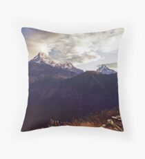 Annapurna South Throw Pillow