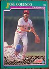 419 - Jose Oquendo by Foob's Baseball Cards