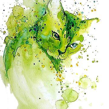 Watercolor Cat by PragmaticFalcon