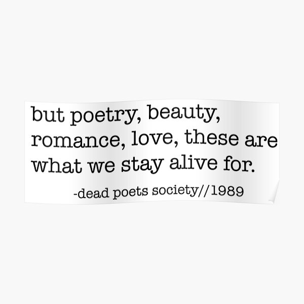 Cercle des poètes disparus Poster