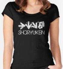 Shoryuken Command White Women's Fitted Scoop T-Shirt