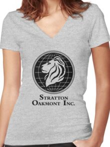 The Wolf of Wall Street Stratton Oakmont Inc. Scorsese Women's Fitted V-Neck T-Shirt