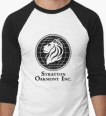 Camiseta ¾ bicolor para hombre El lobo de Wall Street Stratton Oakmont Inc. Scorsese