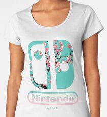 Camiseta premium de cuello ancho Interruptor de nintendo