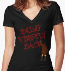 Bring Firefly Back Women's Fitted V-Neck T-Shirt