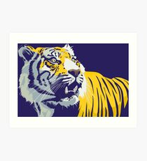 Lámina artística Tigre púrpura y dorado | Bayou Bengal