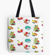 Fruits and Veggies Repeating Version Tote Bag
