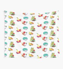 Fruits and Veggies Repeating Version Wall Tapestry