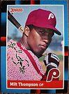 421 - Milt Thompson by Foob's Baseball Cards