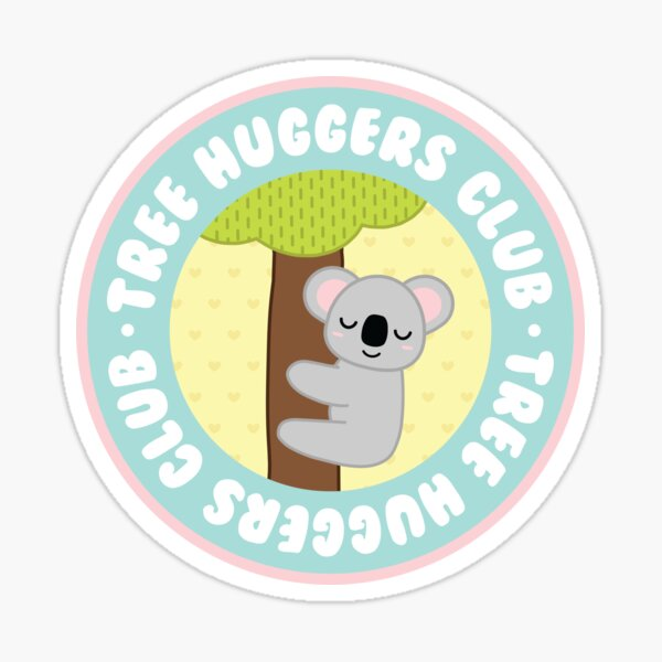 koala tree huggers club Sticker