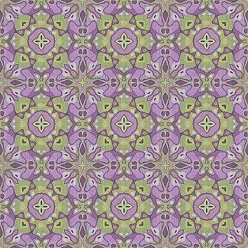 Violet Pink Purple Green Hip Orient Bali Art by FudgePudge