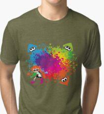 Splatoon - Ink Burst Tri-blend T-Shirt