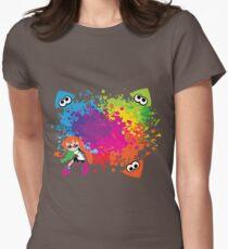Splatoon - Ink Burst Women's Fitted T-Shirt