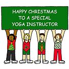 Happy Christmas Yoga Instructor by KateTaylor