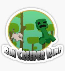 Run Creeper Run! Sticker