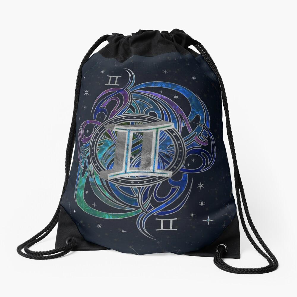 Gemini Zodiac Sign Air Element Drawstring Bag