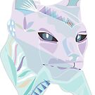 Graphic Cat Totem Animal  by RusticRaw