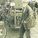 Steampunk Bicycle Man, Photograph by Vic Potter by Vic Potter
