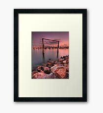 Manly Goal Posts Framed Print