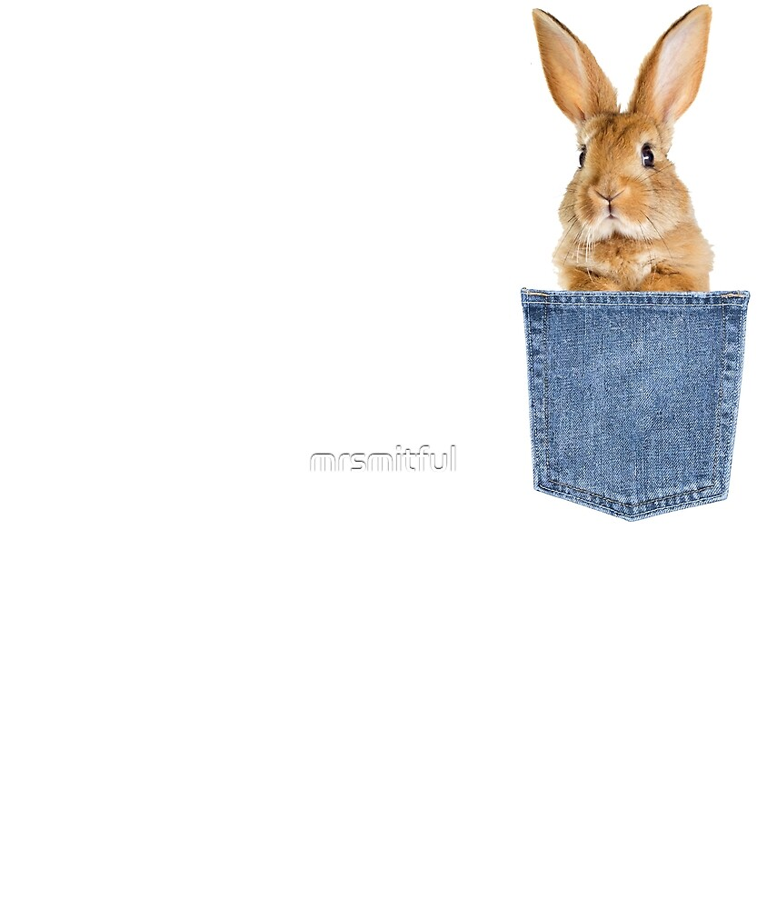 65dd961e8 Bunny Rabbit Pocket Tee - Funny Rabbit Bunny Lover Gift