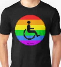 Handicap and singularity LGBT by RootCat and marie b. Unisex T-Shirt