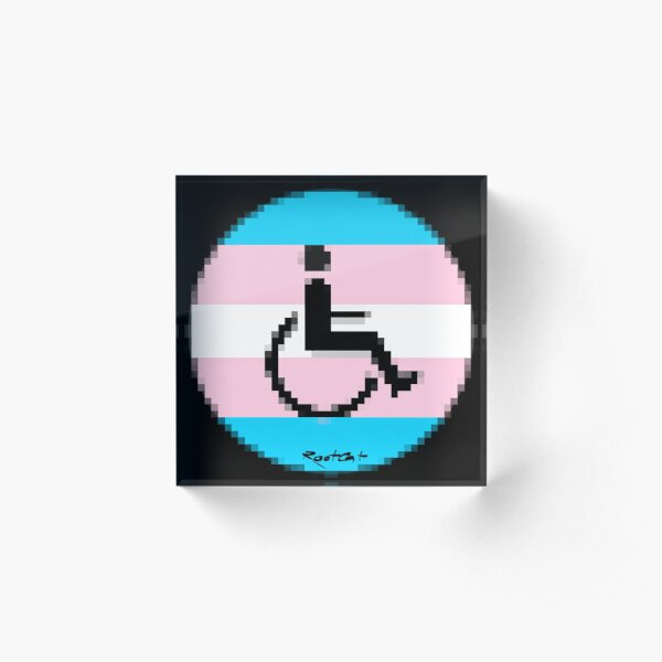 Handicap and singularity LGBT 2 by RootCat and marie b. Acrylic Block
