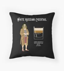 Abide, The Dude White Russian Recipe T Shirt, Unique Design Throw Pillow