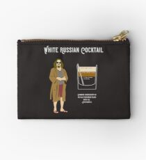 Abide, The Dude White Russian Recipe T Shirt, Unique Design Studio Pouch