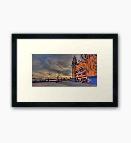 Icon -  Luna Park , Sydney - The HDR Experience Framed Print