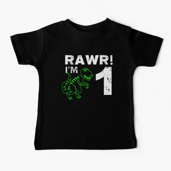 Rawr! I'm 1 Dinosaur Birthday Baby T-Shirt