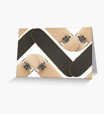 Skate or Die Chevron Pattern Greeting Card