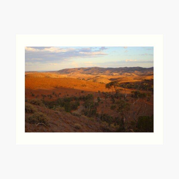 Sunset, Bendleby Ranges, Australia Art Print
