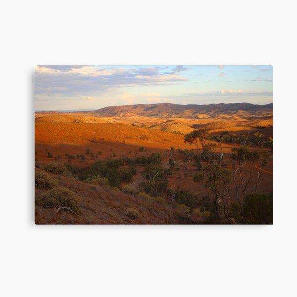 Sunset, Bendleby Ranges, Australia Canvas Print