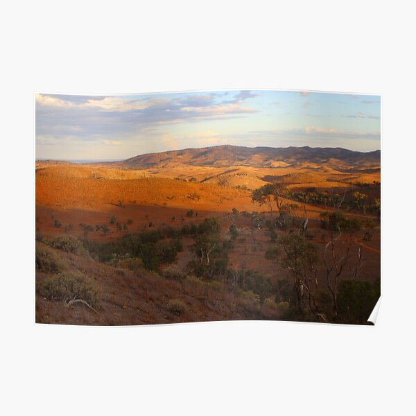 Sunset, Bendleby Ranges, Australia Poster