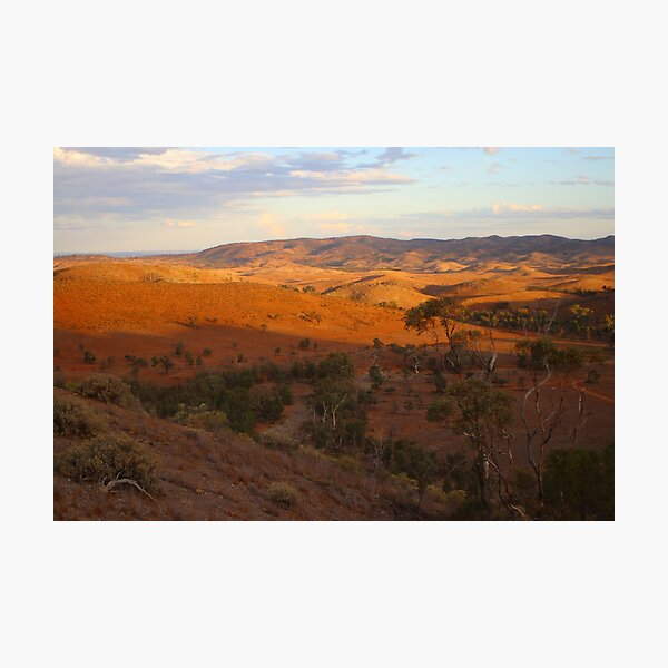 Sunset, Bendleby Ranges, Australia Photographic Print