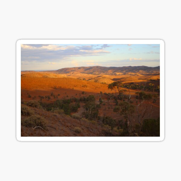 Sunset, Bendleby Ranges, Australia Sticker