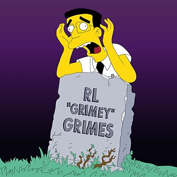 "RL ""Grimey"" Grimes - Purple Sky Background  by georgeinthelife"
