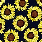 Sunflowers are the New Roses! - Navy  by TigaTiga