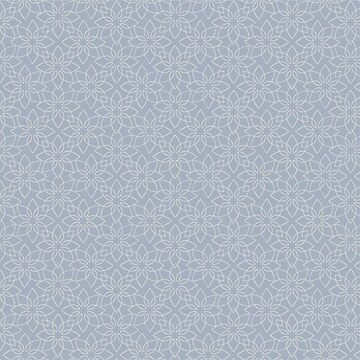 Grey/Blue Floral Print Pattern by FayeLangoulant