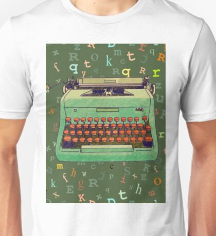 Hand Drawn Typewriter T-shirt