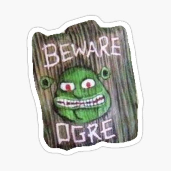 Shrek Swamp Sign Sticker