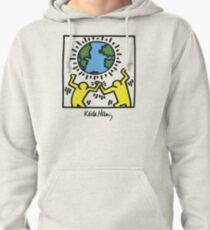Keith Haring, Earth, Peace Pullover Hoodie