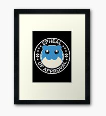 Spheal of Approval - White Framed Print
