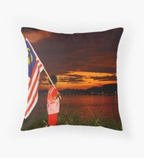 Patriotic Boy Throw Pillow