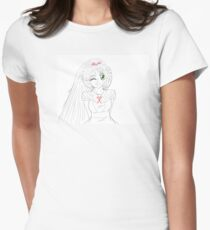Style Lineart Summer Smile Ran Womens Fitted T-Shirt