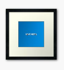 Save Nepal EARTHQUAKE RELIEF FUND DESIGN Framed Print