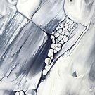 Niagara Falls, Abstract Fluid Painting by PrintsProject