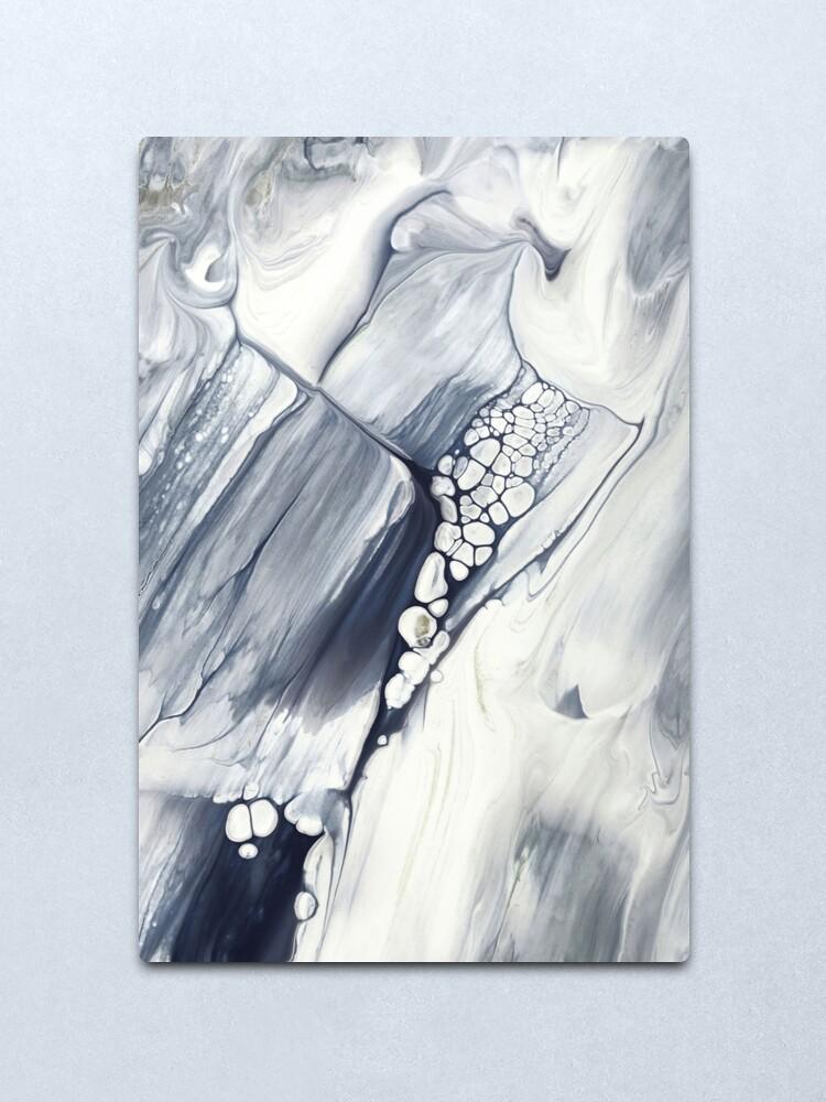 Alternate view of Niagara Falls, Abstract Fluid Painting Metal Print