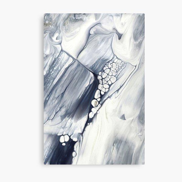 Niagara Falls, Abstract Fluid Painting Metal Print